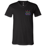 "2018 Lockn' Festival ""The Music Never Stopped"" Bella+Canvas Men's / Unisex Jersey SS V-Neck T-Shirt - 6 Color Options"