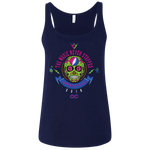 "2018 Lockn' Festival ""The Music Never Stopped"" Bella+Canvas Ladies' Relaxed Jersey Tank - 6 Color Options"