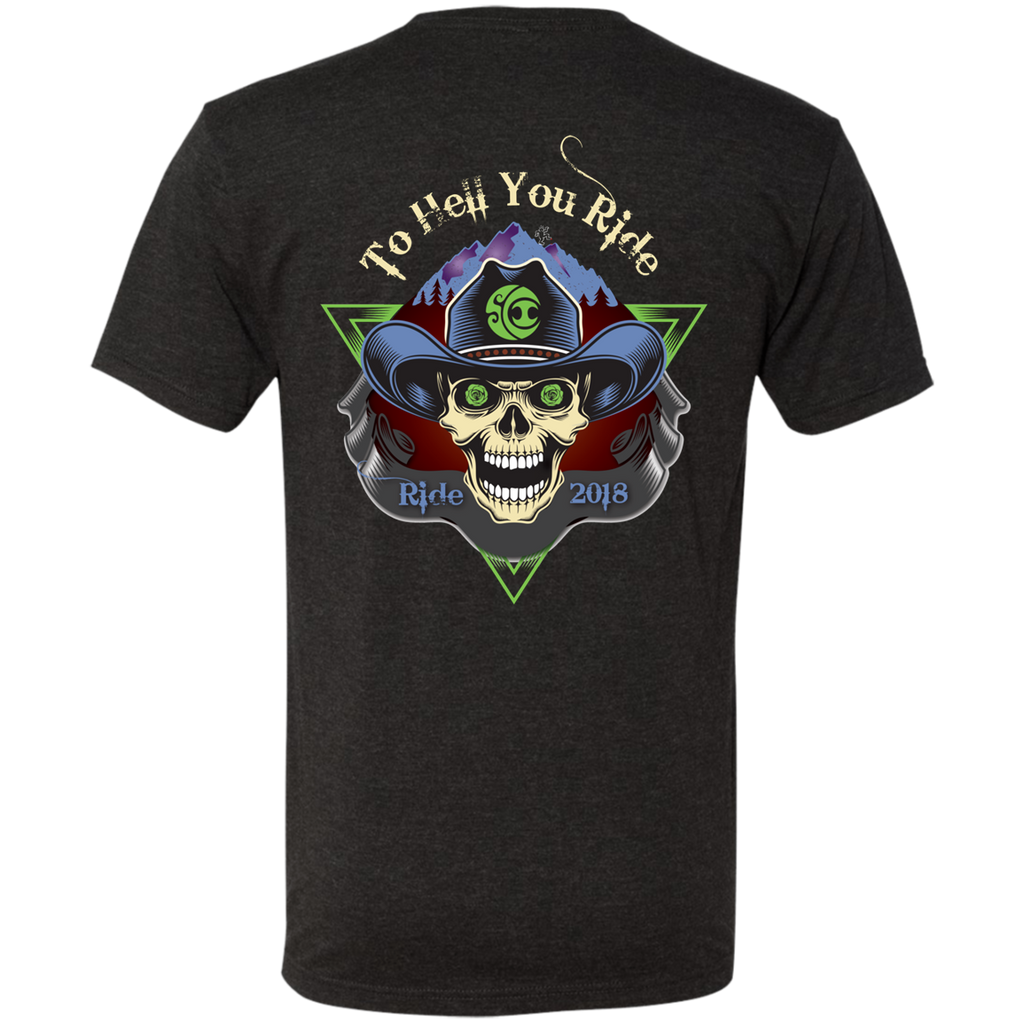"""To Hell U Ride"" Next Level Triblend Men's Short Sleeve T-Shirt"