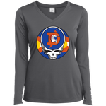 Broncos Steal Your Face Ladies' Sport-Tek Long Sleeve Perf V-Neck
