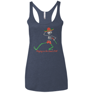 "2018 Playing in the Sand ""Skully Dancer"" Ladies' Next Level Triblend Racerback Tank - 13 Color Options"