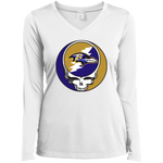 Ravens Grateful Dead Ladies' Sport-Tek Long Sleeve Perf V-Neck