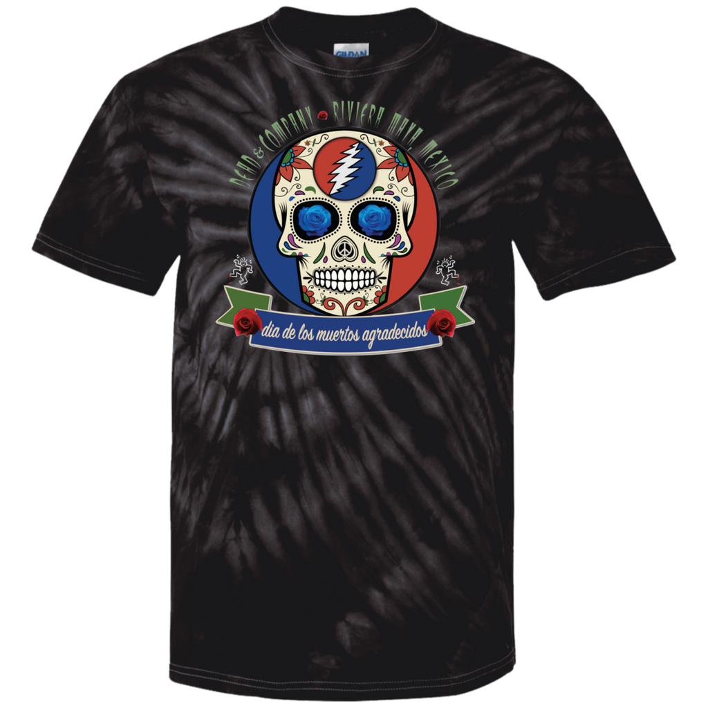 "2018 Playing in the Sand ""Day of the Grateful Dead"" 100% Cotton Tie Dye T-Shirt Design on Front and Back - 11 Color Options"