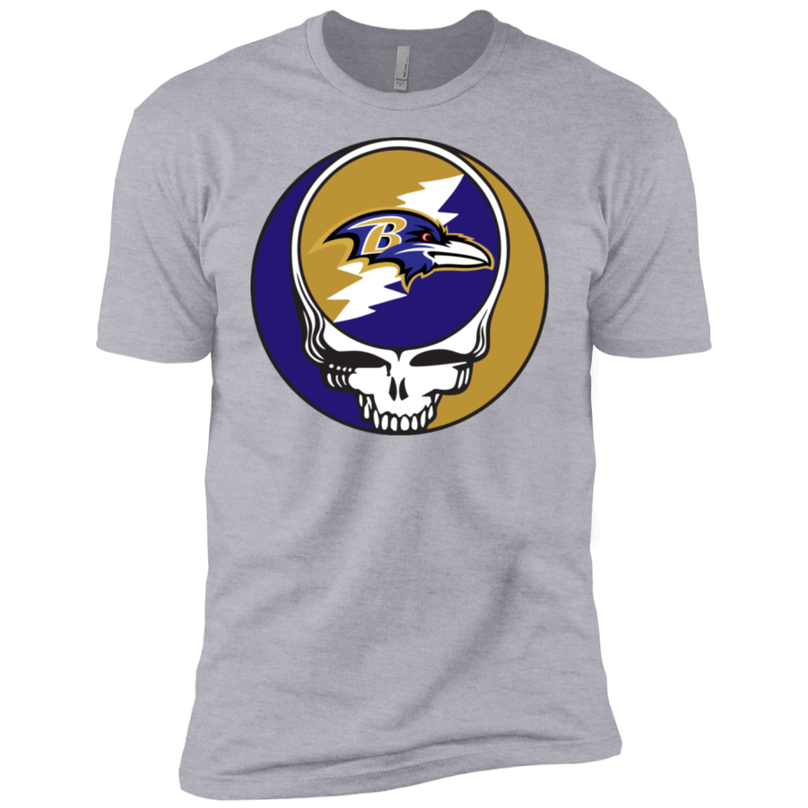 Ravens Grateful Dead Design Men's Short Sleeve T-Shirt