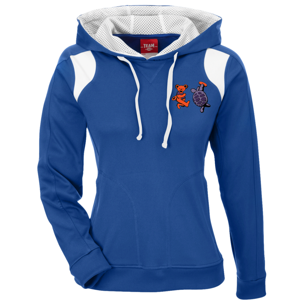 Bear & Terrapin Ladies' Embroidered Colorblock Poly Hoodie