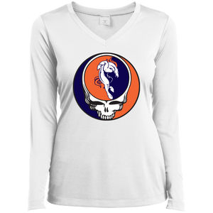 Broncos Horse Grateful Dead Ladies' Sport-Tek Lg Slv Perf V-Neck