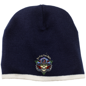"""To Hell You Ride"" USA Biker Beanie 9 Colors"