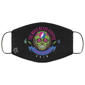 The Music Never Stopped Machine Washable Custom Design Face Mask