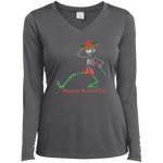 """Skully Dancer"" Ladies' Sport-Tek Performance Long Sleeve V-Neck"