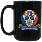 """Day of the Grateful Dead"" 15 oz. Black Mug"
