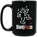 BloodyToe.co Dancing Boy 15 oz. Black Mug