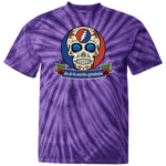 """Day of the Grateful Dead"" Tie Dye T-Shirt Design Front & Back"