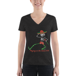 "2018 Playing in the Sand ""Skully Dancer"" Ladies' V-Neck T-Shirt"
