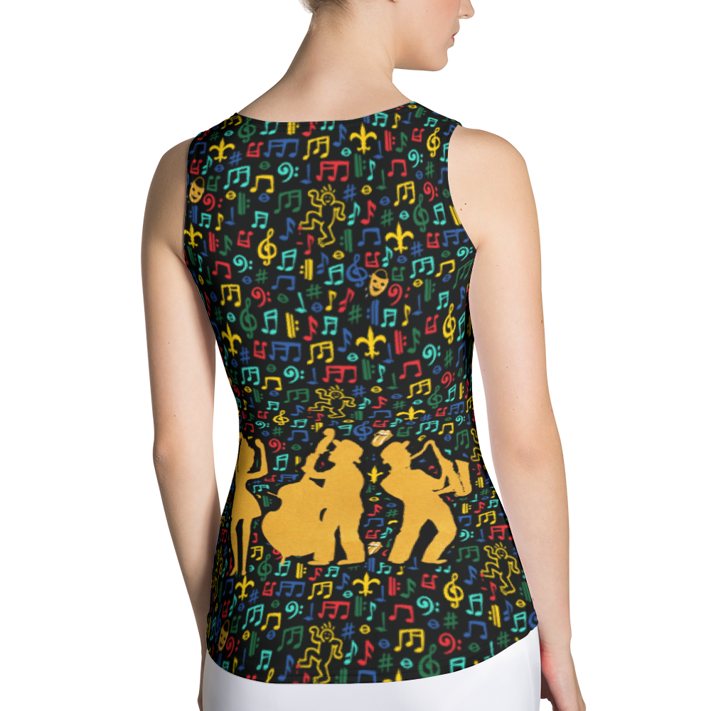 Jazz Fest 50th Anniversary Ladies' Hand Cut & Sewn Tank Top