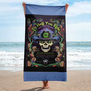 "2018 Ride Festival ""To Hell U Ride"" Beach Towel"
