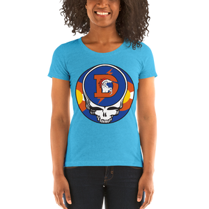 Broncos One of a Kind Steal Your Face Ladies' Triblend T-Shirt