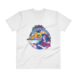 Jam Cruise Grateful Dead Men's Short Sleeve V-Neck T-Shirt