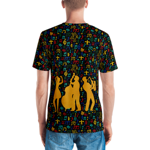Jazz Fest 50th Anniv. Men's All-Over Print Hand Cut & Sewn Tee