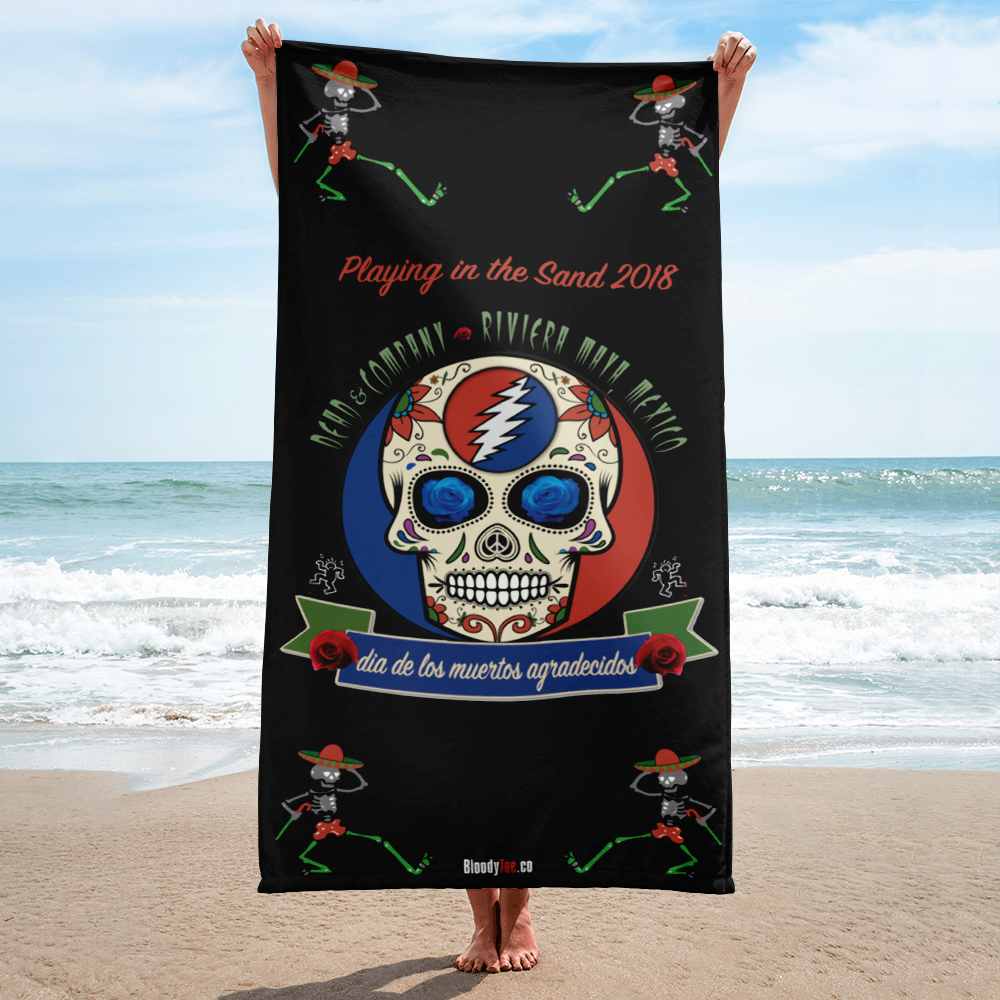 "2018 Playing in the Sand ""Day of the Grateful Dead"" Beach Towel"
