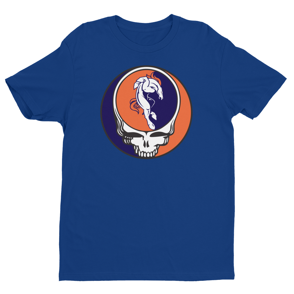 Broncos Horse One of a Kind Grateful Dead Design Men's T-Shirt