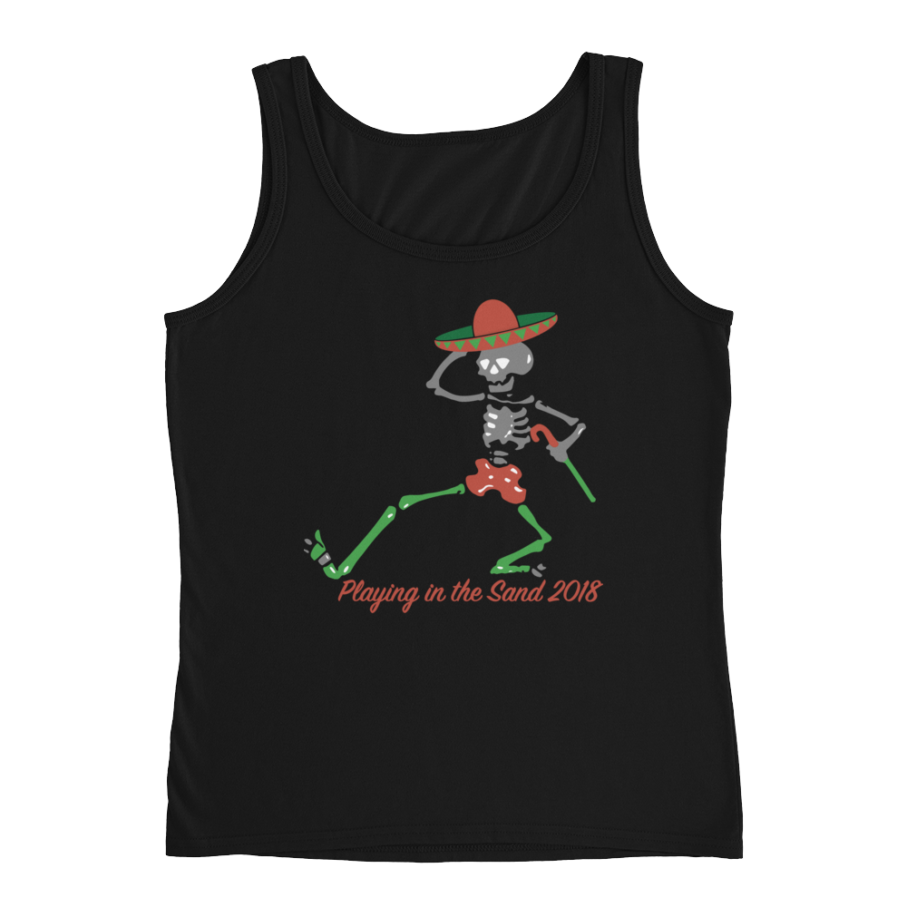 "2018 Playing in the Sand ""Skully Dancer"" Relaxed Jersey Tank"