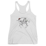 """Skully Rider"" Ladies' Next Level Triblend Racerback Tank Top"