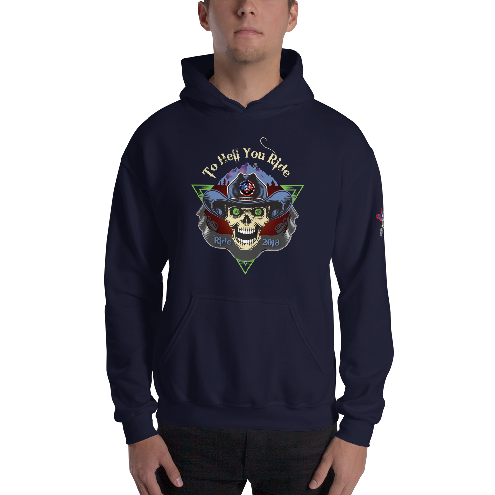 """To Hell You Ride"" USA Biker Men's / Unisex Premium Hoodie"