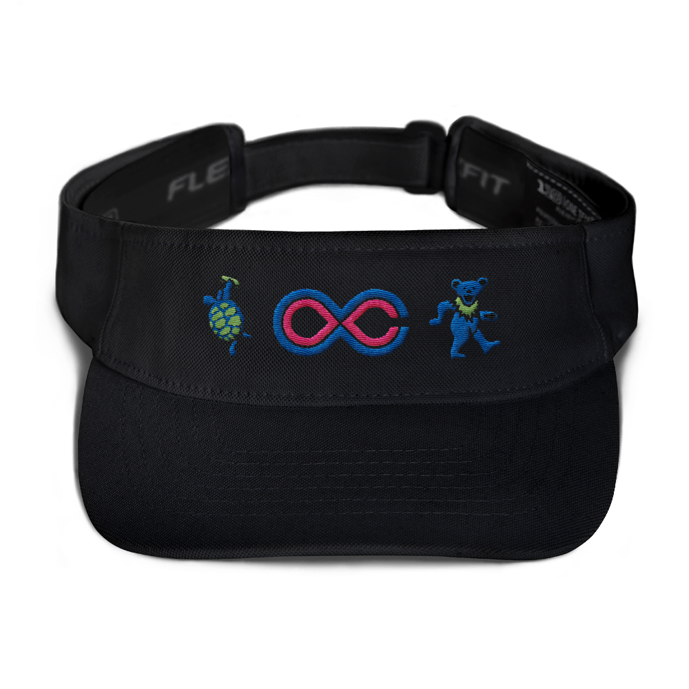 "2018 Lockn' Festival ""The Music Never Stopped"" Visor - 4 Color Options"