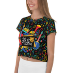 Jazz Fest 50th Anniversary Ladies' Hand Cut & Sewn Crop Tee