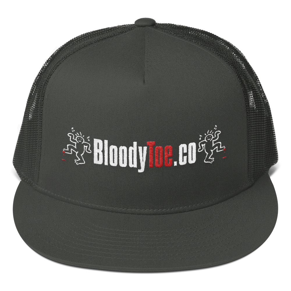BloodyToe.co Dancing Boy Otto Cap Cotton Twill Flat Visor Mesh Back Snapback