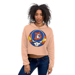 Broncos Steal Your Face Ladies' Fleece Crop Hoodie