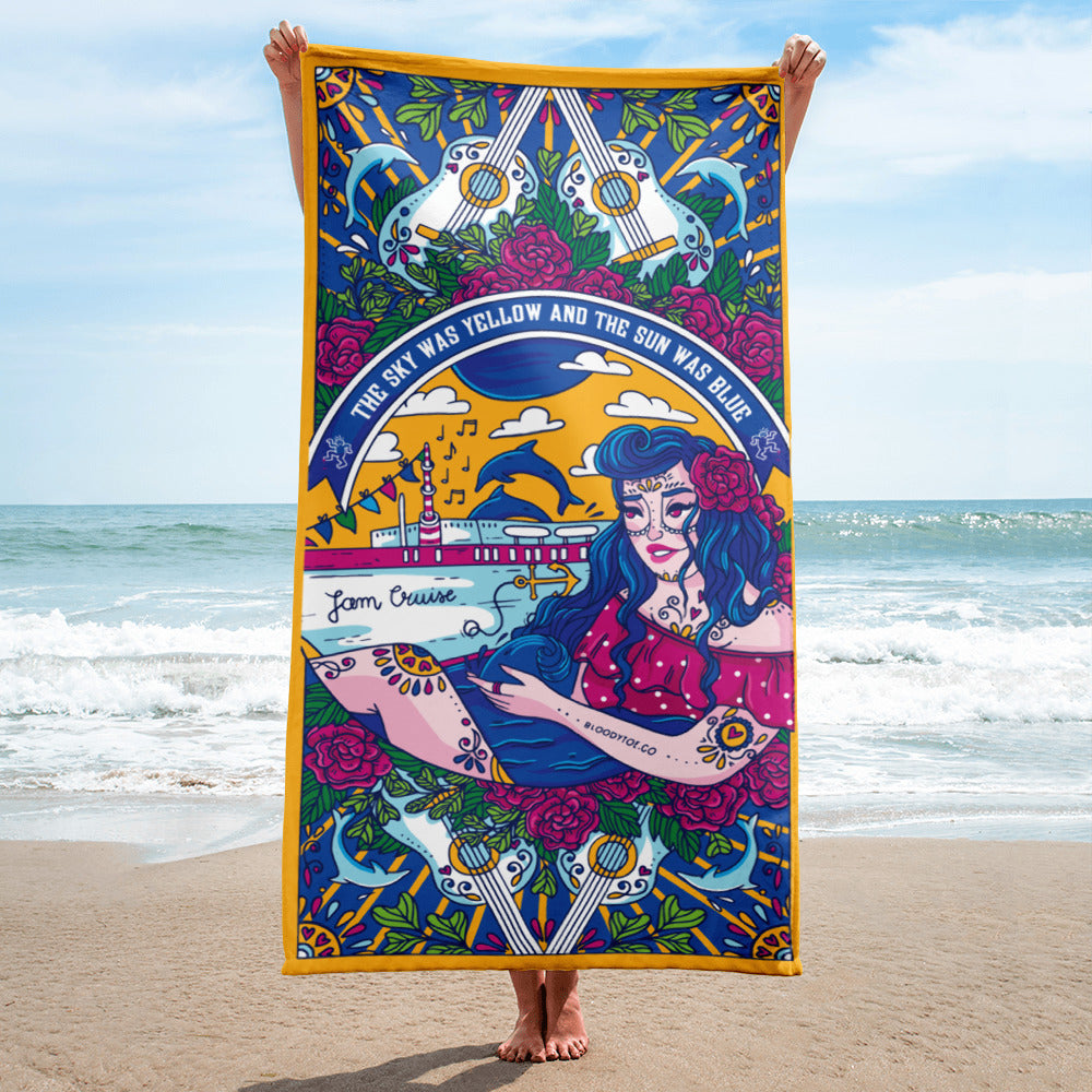 Jam Cruise Grateful Dead Beach Towel