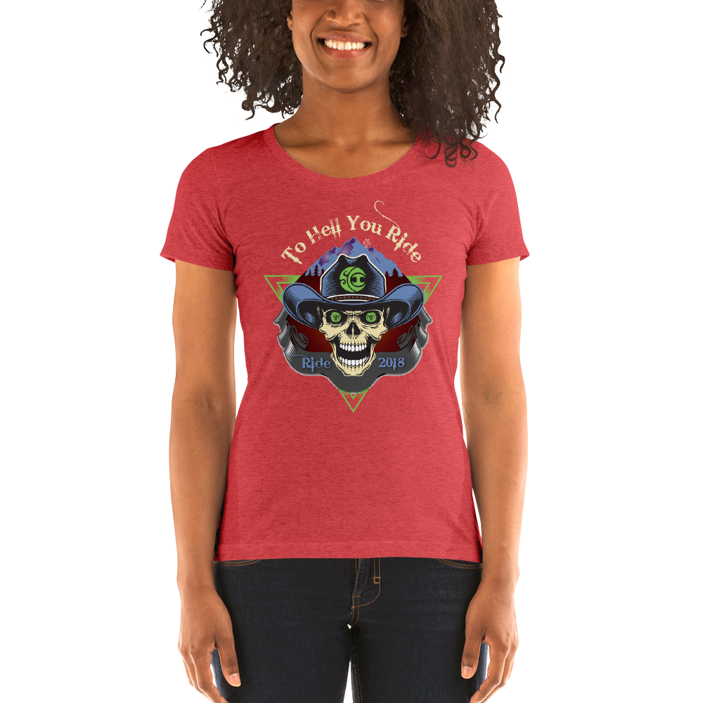 "2018 Ride Festival ""To Hell U Ride"" Ladies' Triblend T-Shirt"