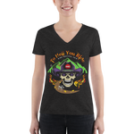 2019 Ride Festival To Hell You Ride Ladies' Triblend V-Neck Tee