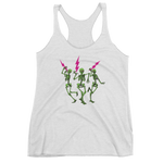 """Skully Jammers"" Ladies' Triblend Racerback Tank 13 Color Options"