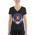 Broncos Steal Your Face Ladies' Triblend V-Neck T-Shirt