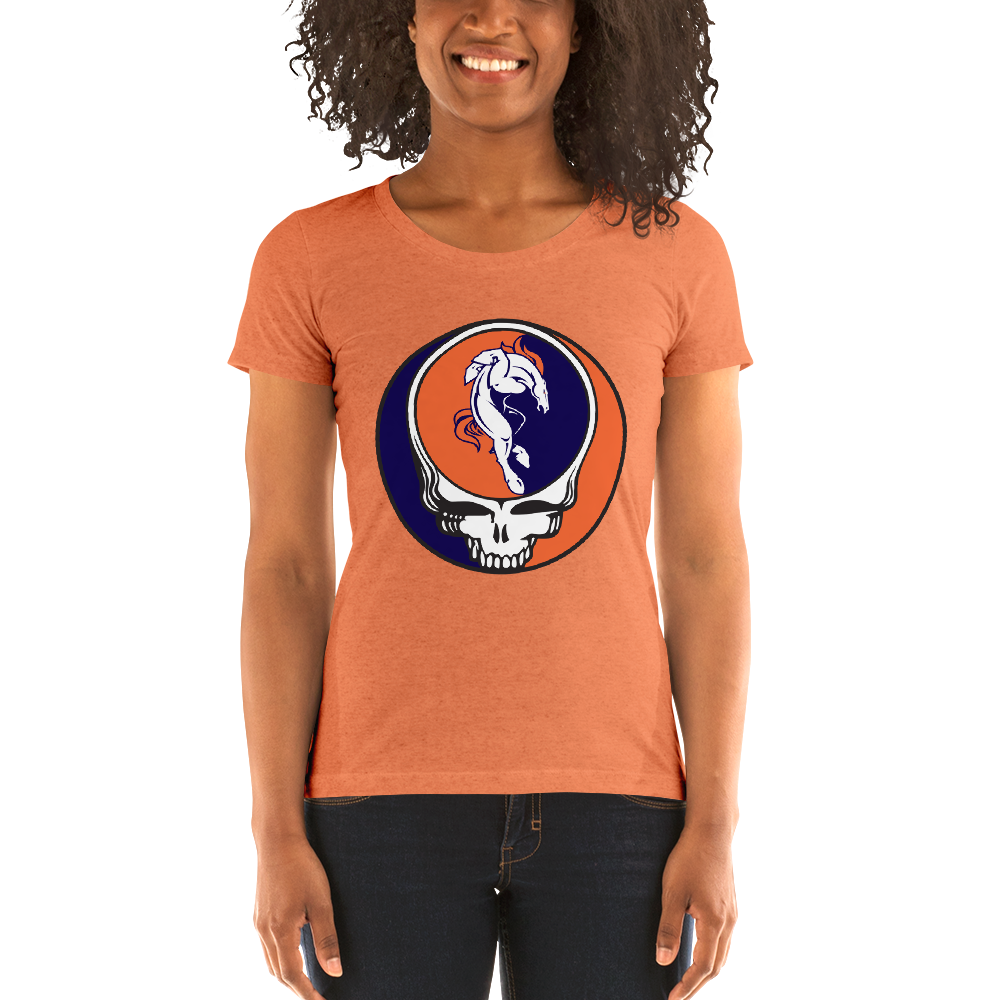 Broncos Horse Grateful Dead Design Ladies' Triblend T-Shirt