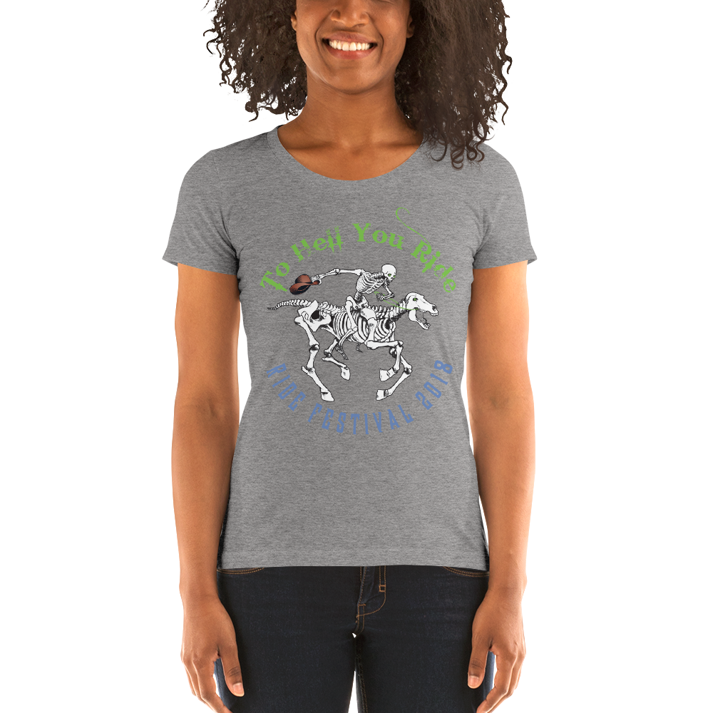 "2018 Ride Festival ""Skully Rider"" Ladies' Triblend T-Shirt"