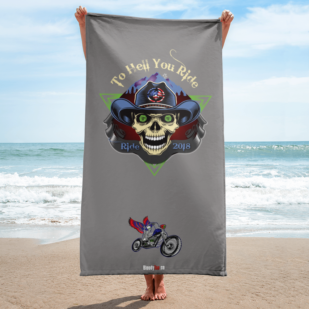 USA Biker Beach Towel