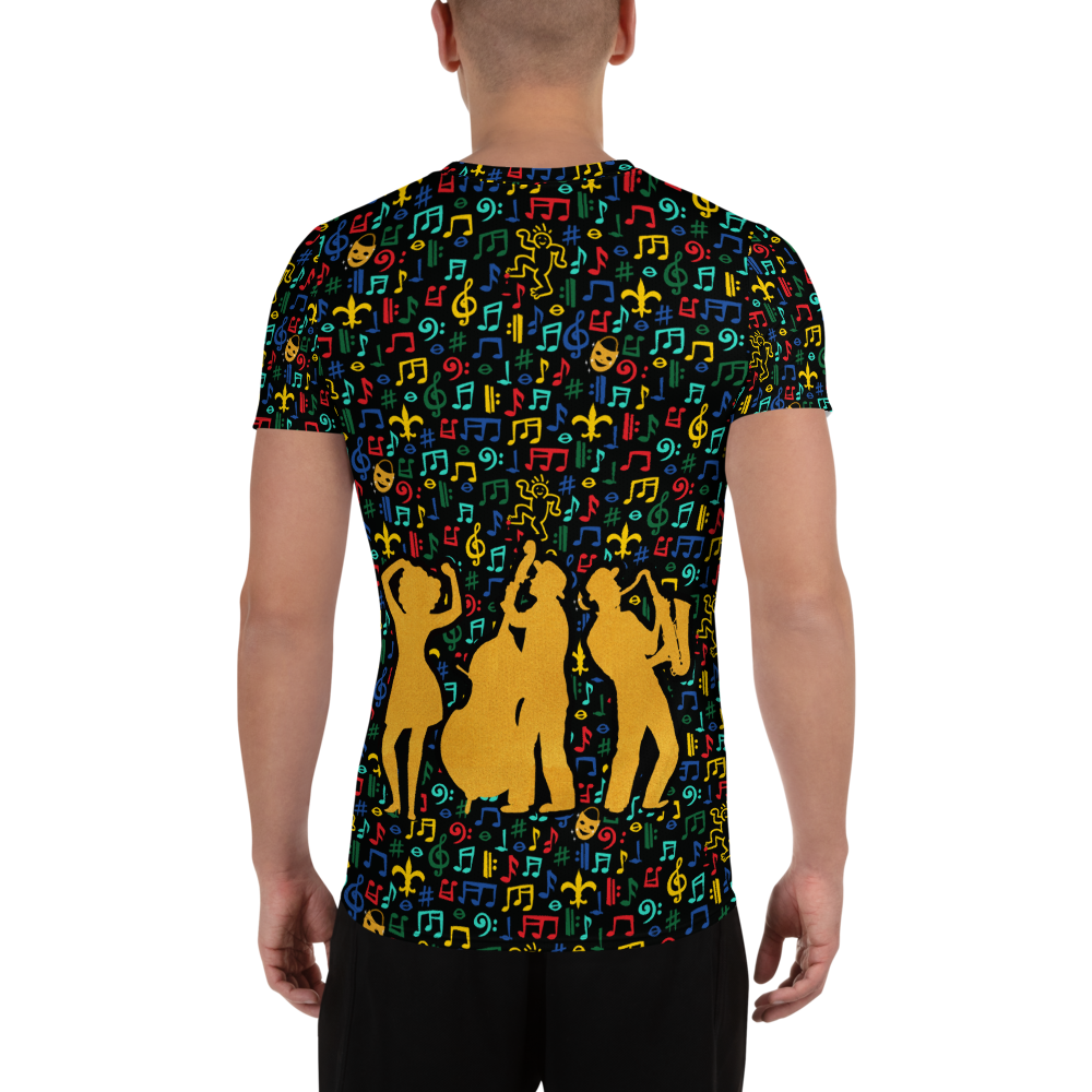 Jazz Fest 50th Anniversary Men's Hand Cut & Sewn Athletic T-Shirt