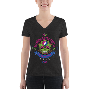 "2018 Lockn' Festival ""The Music Never Stopped"" Ladies' V-Neck Tee"