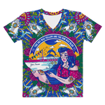 Jam Cruise Ladies' All-Over Print Hand Cut & Sewn Premium V-Neck
