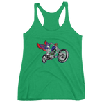 """Skully Biker"" USA Ladies' Racerback Tank"