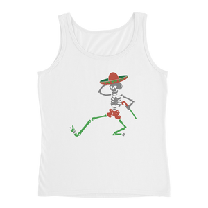 """Skully Dancer"" Ladies' Relaxed Jersey Tank Top"