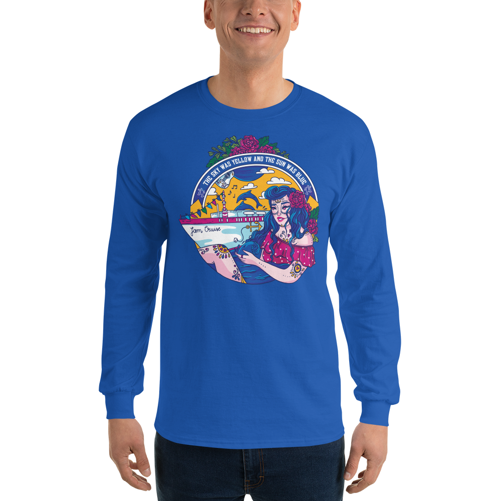 Jam Cruise Grateful Dead Men's 100% Jersey Knit Long Sleeve Tee