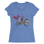 """Skully Biker"" USA Ladies' Triblend T-Shirt"
