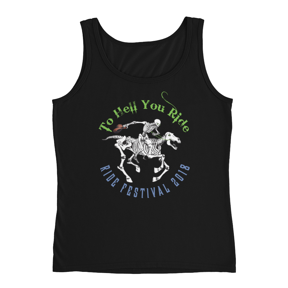 "2018 Ride Festival ""Skully Rider"" Ladies' Relaxed Jersey Tank Top"