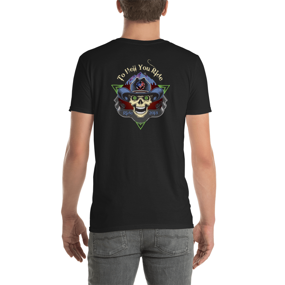 """To Hell You Ride"" USA Biker Men's / Unisex Short Sleeve Tee"