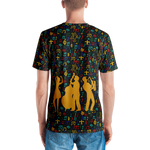 Jazz Fest 50th Anniv. Men's All-Over Print Hand Cut & Sewn V-Neck