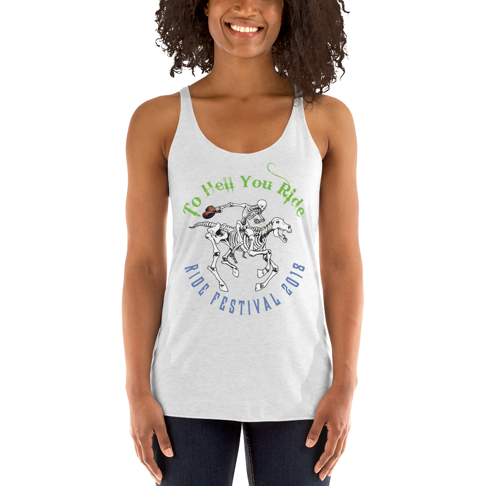 "2018 Ride Festival ""Skully Rider"" Ladies' Triblend Racerback Tank"